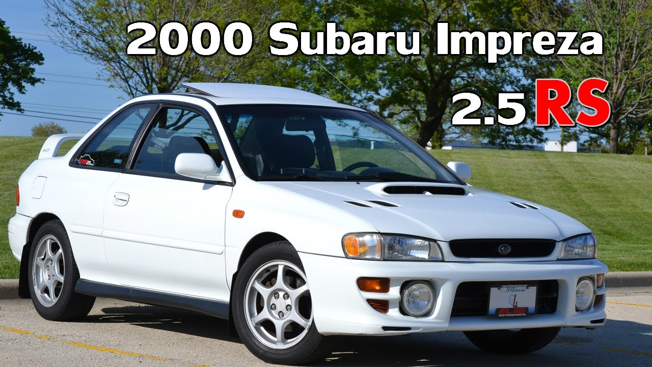2000 subaru impreza 2.5rs coupe 5 speed awd 26th - youtube