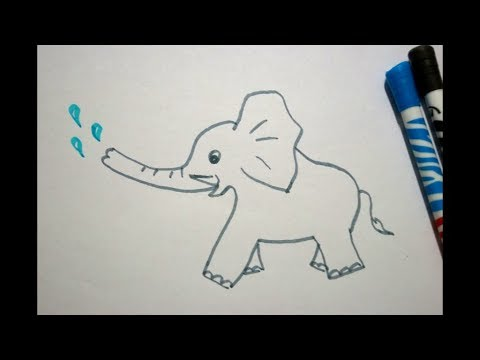 Ganz Einfach Elefant Zeichnen Lernen Fur Kinder How To Draw An