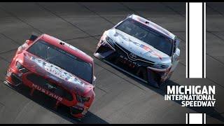 Harvick battles Hamlin to get the sweep at Michigan | NASCAR