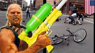 Pedal pub attack: Six arrested after soaking Minneapolis drinkers with water guns- TomoNews