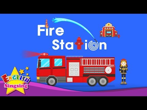 Kids vocabulary - Fire station - firefighter vocab - Learn English for kids