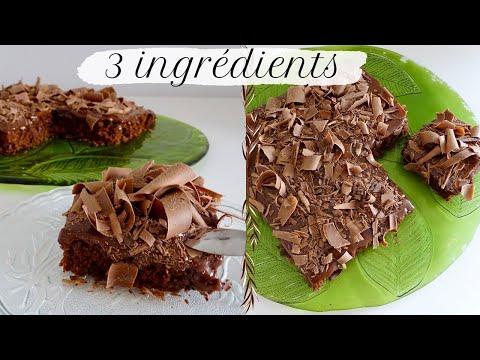 gâteau-au-chocolat-avec-3-ingrédients,-une-recette-facile-&-rapide-sans-oeuf,-ni-beurre-ni-farine