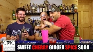 Sweet Cherry Ginger Spice Soda, With Real Cherries!