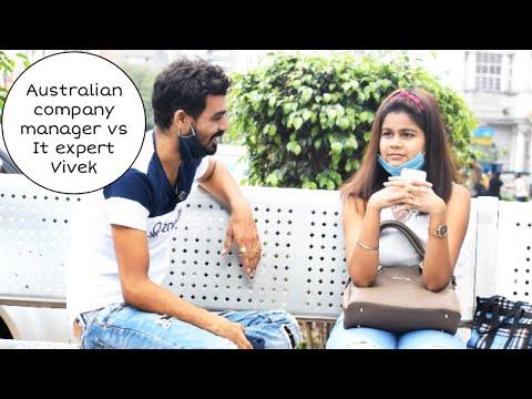 Australian company manager vs IT expert Vivek technologies twist prank | Vivek golden