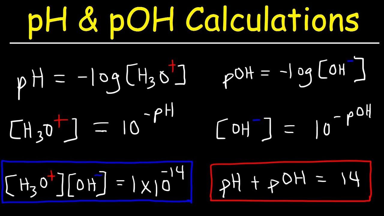 ph  poh  h3o   oh