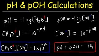 ph-poh-h3o-oh-kw-ka-kb-pka-and-pkb-basic-calculations-acids-and-bases-chemistry-problems