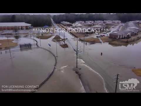 02-23-2018 Little Rock/Bryant, AR flooding with drone