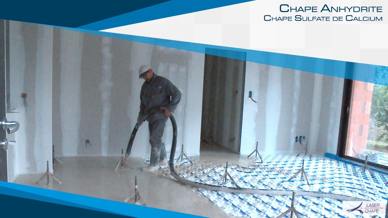 Chape laser chape fluide coulage chape sur plancher for Chape sur plancher chauffant