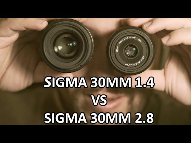 Sigma 30mm 1.4 VS Sigma 30mm 2.8 on the Sony A6000 - which one will win?