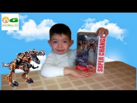 Трансформер динозавр Хасбро. Hasbro Transformer dinosaur.