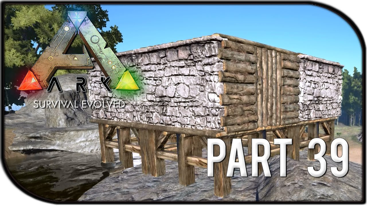 Ark Survival Evolved Gameplay Part 39 New Stone Wall Building