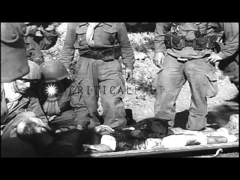 French Foreign legionnaires in mobile operations against rebels in Rif mountains ...HD Stock Footage