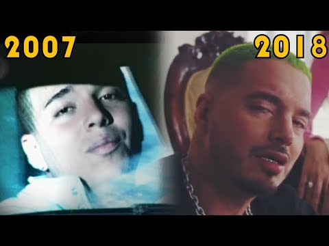 J Balvin Evolucion – Desde: Extasis – 2007 – A: Reggaeton │ Say My Name – 2018