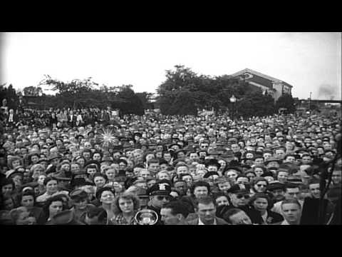 Election campaign of Thomas Dewey, the Republican candidate during the United Sta...HD Stock Footage