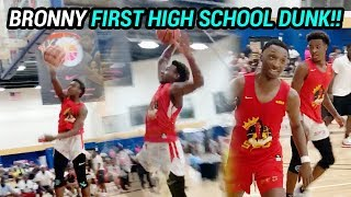 Bronny James JUST CAUGHT HIS FIRST HIGH SCHOOL DUNK!! Skyy Clark & Dior Put On DUNK SHOW 😱