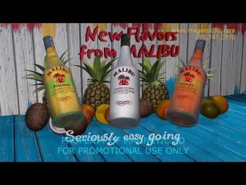 Magnetic 3D - Malibu Rum Content - Flavor Variations