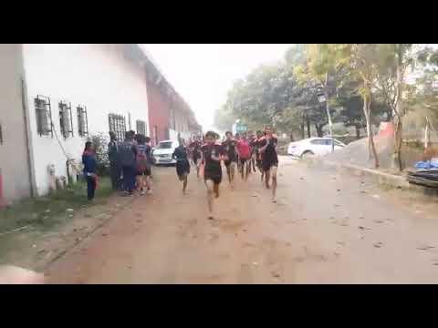 800 miters police  bharti girls running
