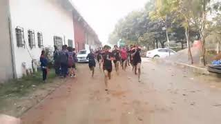 800 miters police  bharti girls running