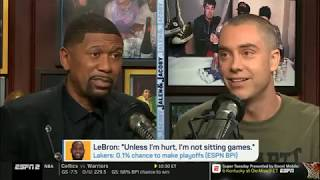 """Jalen & Jacoby ANALYST """"Lakers: 0.1% chance to make playoffs; this season is over 