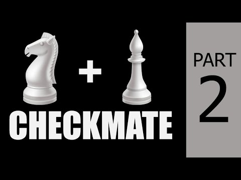 Checkmate With Knight & Bishop #2: Chess Endgame Strategy, Moves & Tricks To Win Fast + Puzzle