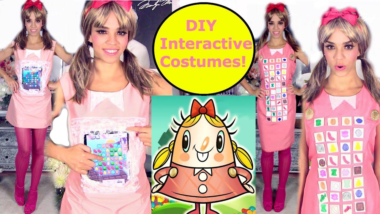 DIY Halloween Costume - Interactive Candy Crush Digital Costume Ideas - YouTube  sc 1 st  YouTube & DIY Halloween Costume - Interactive Candy Crush Digital Costume ...