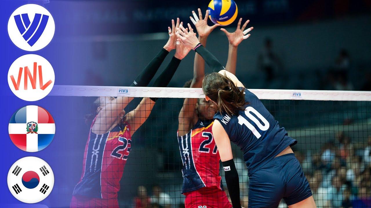 Korea vs Dominican Republic - Full Match   Preliminary Round   Women's VNL 2018