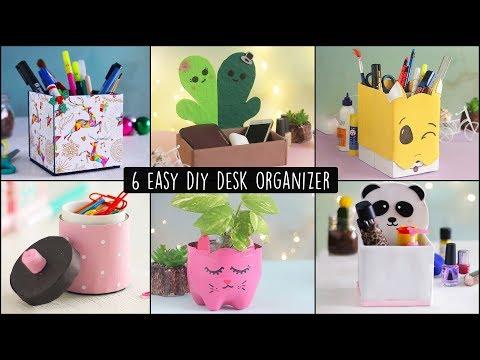 6 Easy DIY Desk Organizers