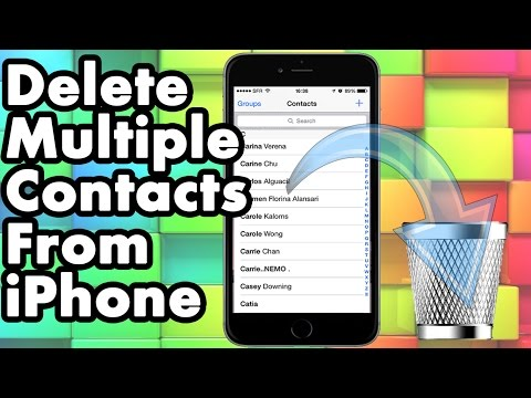 How do i delete multiple contacts on my iphone 6s