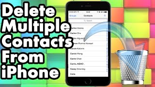 How To Delete Multiple Or All Contacts From Your iPhone iPad and iPod Touch