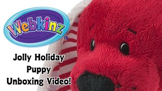 Webkinz Jolly Holiday Puppy Unboxing - NEW pet October 2015!
