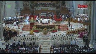 Msza Święta pod przewodnictwem Ojca Świętego Franciszka