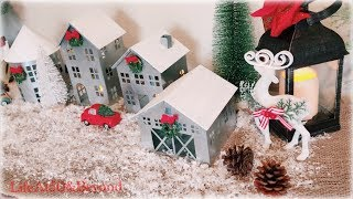 BUDGET-FRIENDLY HOLIDAY HOME TOUR 2018 || Winter Wonderland || Red Trucks || Miniature Houses