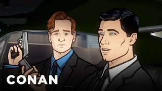 Conan & Archer Battle Russian Mobsters  - CONAN on TBS(CONAN Highlight: Conan gets animated with everyone's favorite FX secret agent -- and nearly gets shot in the process. More CONAN ..., 2015-01-21T04:10:03.000Z)