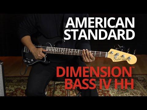American Standard Dimension™ Bass IV HH Demo | Fender