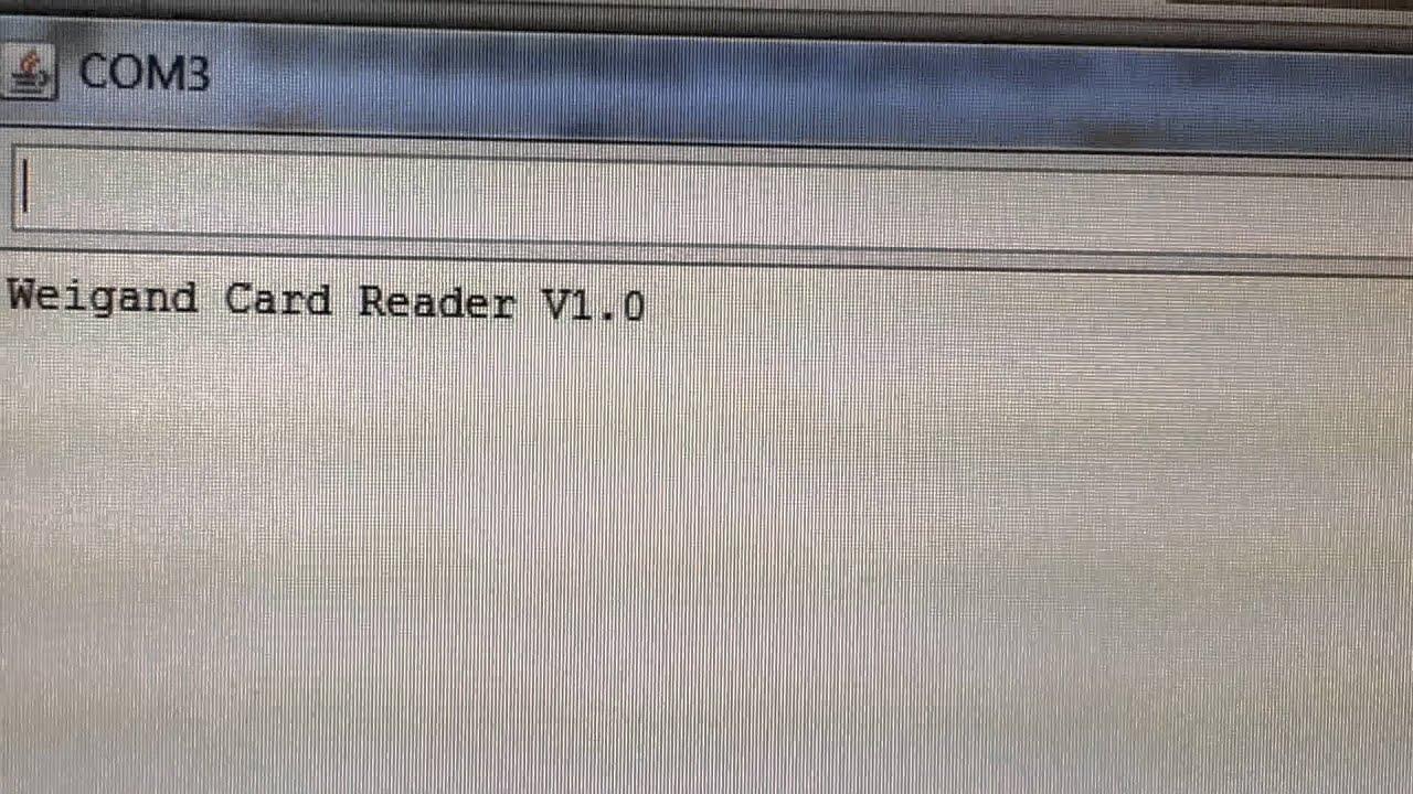 Arduino weigand card reader by Jason Lee