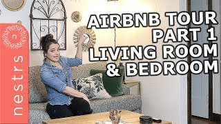 Gambar cover Airbnb Interior Design Tips: Bedroom and Living Room Tour (Part 1) |  Nestrs