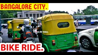 Bangalore City | Bike Ride Many Auto Car Bike and Govt bus Travelling in Bangalore Road.
