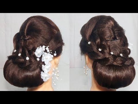 New Low Bun Hairstyle For party/Wedding || Easy hairstyle For Long Hair 2019 || hair style girl thumbnail