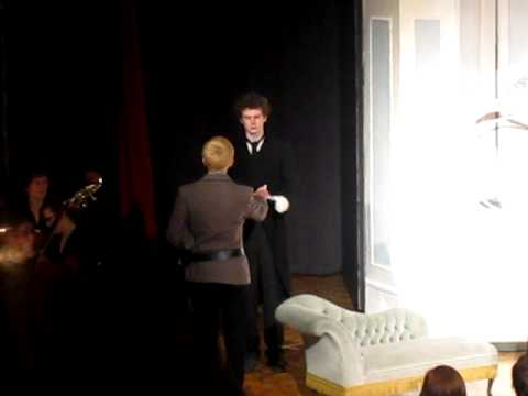 Hugh plays Franz the butler in 'The Sound of Music' in excellent laconic style!