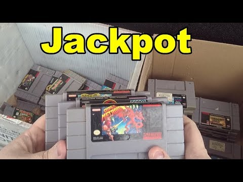Live Flea Market/Yard Sales Video Game Hunting! Ep. 55 STARTING OFF RIGHT! - Pickups!