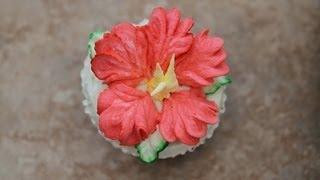 "Hibiscus Cake-how To Decorate Cupcakes  ""hibiscus Flower"""