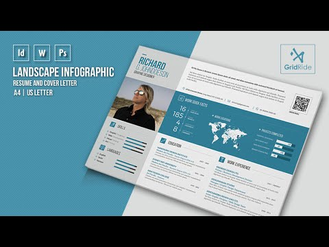 How To Customize Resume Template In Adobe InDesign @ Infographic Resume + 3  Cover Letters   YouTube