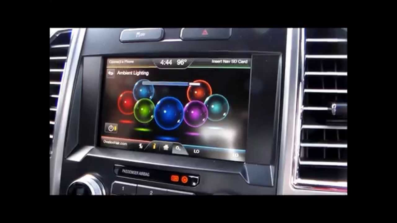 2018 Ford F150 Colors >> How to Change Ambient Lighting - YouTube