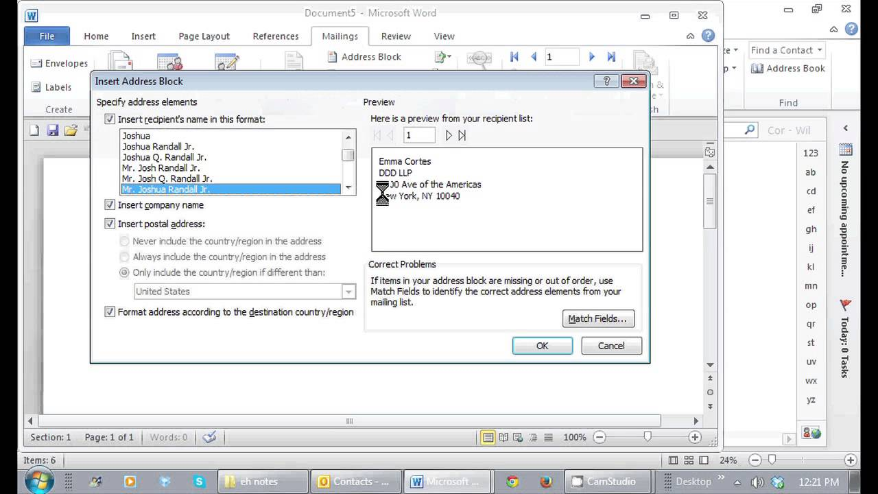 how do you insert an address book in microsoft word    tips for microsoft office  u0026 windows