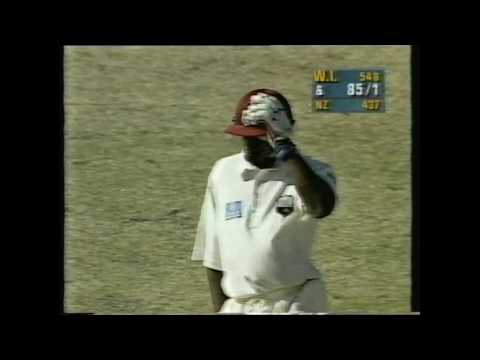 New Zealand vs West Indies 1996 2nd Test, St Johns Antigua, Day 4 - NZ News Report