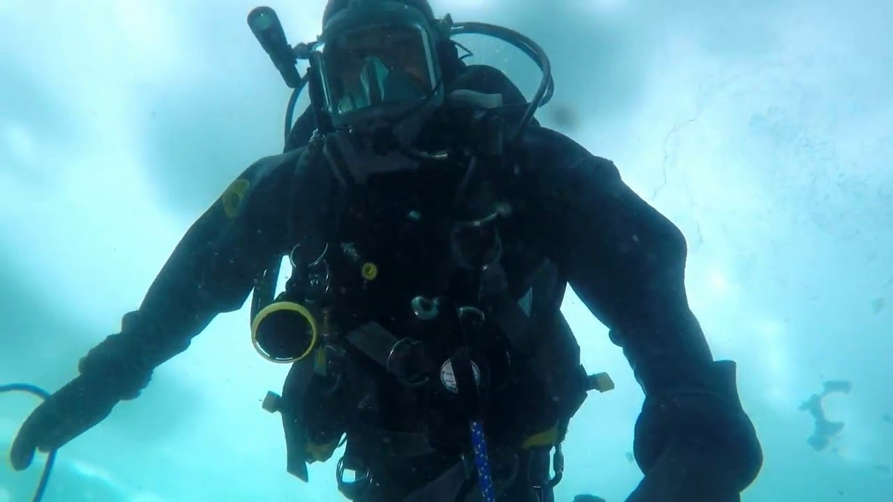 Police Training Below Ice with Underwater Drone