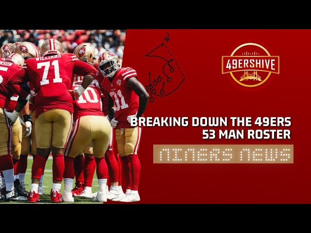 Niners News: Breaking Down the 49ers 53-Man Roster