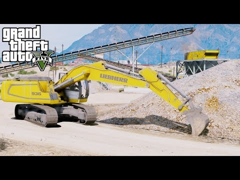 GTA 5 REAL LIFE MOD #71 Buying A New Excavator For Our Construction Company