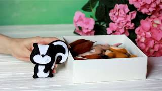 Woodland felt animals set from Mollis Toys handmade playset Woodland baby Shower Nursery decor Kids