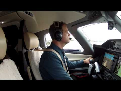 Phenom 100 Santa Monica Departure With Radio Calls